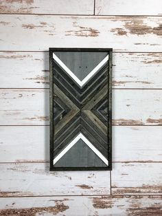 Weathered Grey & Black X. Reclaimed Wood Wall Art. Pallet Art. | Etsy