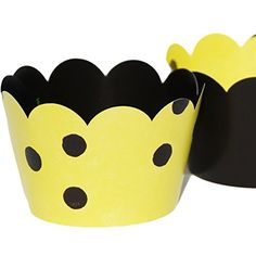 Confetti Couture Party Supplies 36 Dessert Skirtz Reversible Cupcake Wrappers for Bakery Packaging and Decoration, Yellow with Black Polka Dots and Solid Black Confetti Couture Party Supplies http://www.amazon.com/dp/B015HQEOOO/ref=cm_sw_r_pi_dp_vkZZwb0ZN6DPB