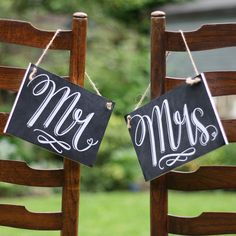 mrs and mr on back of chair - Google Search