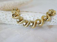 Solid 14K Yellow Gold Genuine Diamond Tennis Bracelet 23.9 Grams Brilliant Cut #Tennis