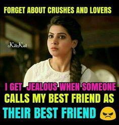 Shamsareem Bestfriend Quotes Tumblr, Bff Quotes, Dream Quotes, Best Friend Quotes, Girly Quotes, Jokes Quotes, True Quotes, Real Friendship Quotes, Crazy Girl Quotes