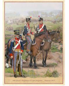 16th Queen's Regiment of Light Dragoons, Waterloo 1815 DH201-A4-210X297MMPRINT 1445248269-47736600.jpg (1000×1234)