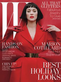 Marion Cotillard covers  W magazine December 2012 in Dior