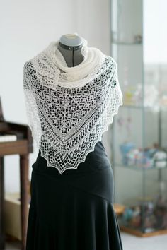 Such beautiful lace!! Love the colour choice. rahardjoknits' My Heaven shawl (http://rahardjoknits.tumblr.com/post/103819474218/photoset_iframe/rahardjoknits/tumblr_nfr9vyIOe81rqec7r/500/false), pattern by Patusha in Ravelry. I can't believe this is a free pattern!