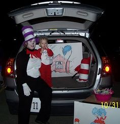 Then out your car with a book like Dr. Seuss. Trunk or treat ideas
