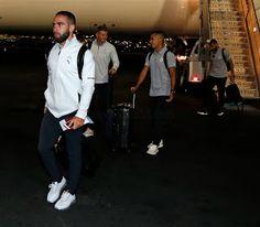 Asi llego el Real Madrid a Los Angeles