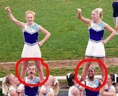 These non supportive bases. | 19 Cheerleaders Who May Not Make The Team Next Year