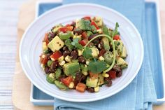 Chopped Black Bean-Avocado Salad . Fast, fresh and flavorful, this simplified version of the Black Bean–Salad Stacks is easy enough for a quick lunch.
