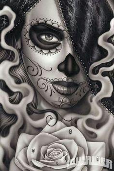 Veil, face, smoke and rose