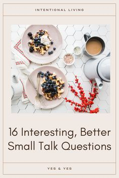"""If you haven't socialized in a year, small talk is going to be rough! Read on for 16 small talk questions that are more interesting than """"So what have you been up to?"""" Happy Facebook, Small Talk, You Better Work, Life Advice, Self Development, Food For Thought, Posts, This Or That Questions, Blog"""