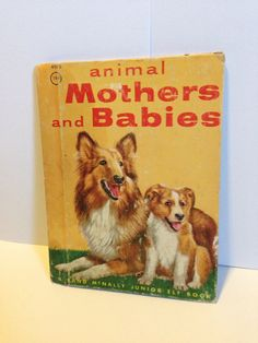 Animal mothers and Babies small Rand McNally Junior Elf Children's Book  on Etsy, $2.75