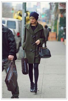 Ralph Lauren Black Label Merino wool toggle coat in cypress