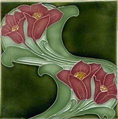 Art Tile, Art Nouveau Flowers
