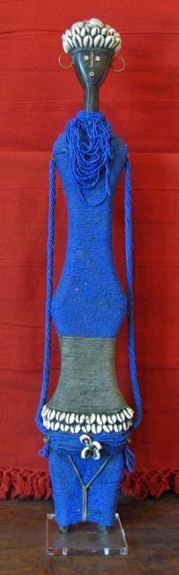 Blue Doll Beaded