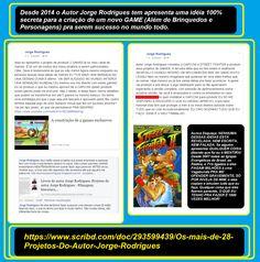SEJA #EMPRESÁRIO DOS #ESCRITOS E #PROJETOS DO AUTOR JORGE RODRIGUES ou compre seus livros   Qualquer livro do #autorJorgeRodrigues no CLUBE DE AUTORES em média de R$ 27,00 pra você comprar qualquer #livro. Visite as duas páginas do autor.  TODO O MEU TRABALHO >>> https://pt.scribd.com/doc/258750223/Meu-Curriculo-My-Resume DIVERSOS GÊNEROS ( #Romances, #Monografias, Instrumentos musicais, #Manuais) http://clubedeautores.com.br/authors/63447 #ARTE MARCIAL #SIMFUJE…