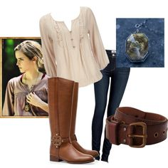 """hermione granger, Deathly hallows part 1, outfit"" by cullen98 on Polyvore  my creation"