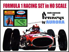 Formula 1 racing in HO scale.  Poster courtesy of www.tnjpostercreations.com