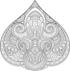 Vector Art : Vector Monochrome Decorative Design Element in Doodle Style