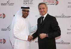 Abu Dhabi Film Festival director Ali Al Jabri opening the Festival with Jaeger-LeCoultre @AbuDhabiFF #ADFF12