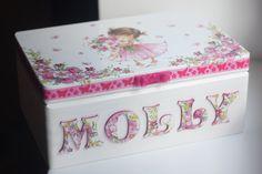 Wooden personalized baby keepsake box by DumontsHandicrafts