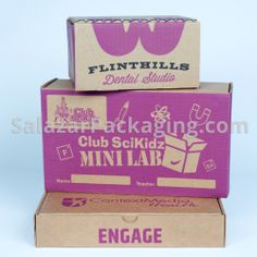 Packaging products and custom design with economical, eco-friendly materials. Custom Printed Boxes, Print Packaging, Pantone, Custom Design, Mini, Prints, Purple, Viola