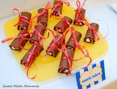 chocolate snacks as diplomas/graduation party