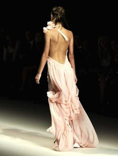 runway low back dress