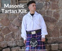 💙💜Monday Sale💙💜 Masonic Tartan Kilt And Outfit This ravishing Masonic Tartan has become widely accepted and recognized as a colorful symbol for Scottish culture worldwide. Its set consists of a blue background with a white border second by yellowish lines. #scottishkiltshop #Masonictartankilt #Outfit #scottishkilt #kilt #kiltshop #scottish #mensfashion #malestyle #tweed