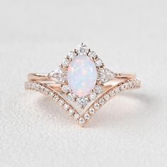 Dream Engagement Rings, Engagement Ring Settings, Vintage Engagement Rings Opal, Vintage Opal Rings, Opal Diamond Engagement Ring, Different Engagement Rings, Opal Promise Ring, Most Beautiful Engagement Rings, Tiffany Engagement