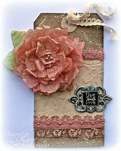 I have a fun technique to show you, and that is with tissue paper and Glimmer Mist! This is a quick way to use up your old tissue paper you ...