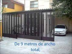 Barandal corredizo contemporaneo.wmv herreria artistica - YouTube Grill Door Design, House Gate Design, Portal, Compound Wall, Garage Exterior, Mexico House, Two Storey House, Driveway Gate, Door Gate