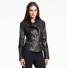 Kenneth Cole New York - Leather Moto...sort of like the one I purchased from Ross today for $49