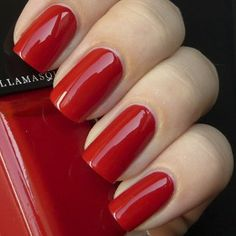 Nail Varnish in Ruthless - bright scarlet red, glossy finish from the best make-up experts. The perfect nail varnish from Illamasqua - Make-Up for your alter ego. Red Nail Varnish, Nail Polish, My Beauty, Beauty Nails, Nail Base Coat, Beauty Without Cruelty, Uv Nails, Professional Nails, Red Paint