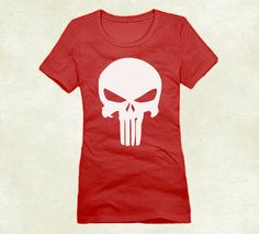 fb7ec22bc35f Plus Size The Punisher Logo Crew Tshirt For Women by ElegantTees