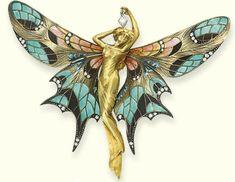 Rene Lelique fairy brooch: The Art Nouveau Period (1880 to 1915)