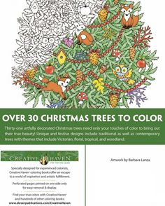 creative haven christmas trees coloring book - Html Color Sheet