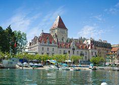 Festive Winter Breaks in Lausanne, Switzerland Lausanne, Work Travel, Us Travel, Swiss Travel, European Breaks, Switzerland In Winter, Winter Breaks, Chateau Hotel, Hotel Victoria