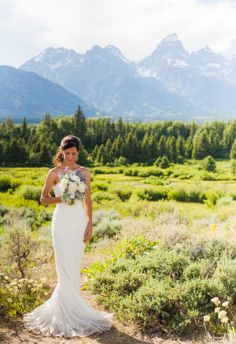 A Grand Teton Wedding by Heather Erson Photography featured on Borrowed & Blue