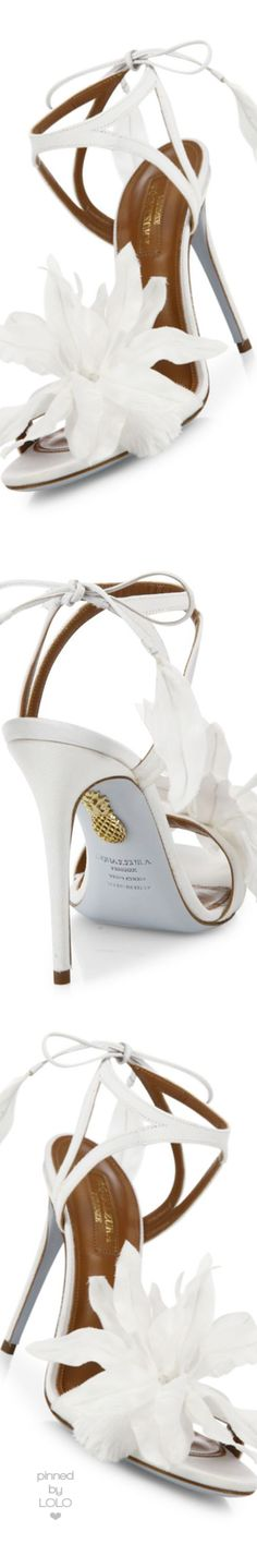 Aquazzura Flora Satin Back-Tie Sandals