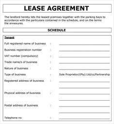 Commercial Lease Agreement Template - Best Word Templates ...