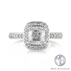 Markbroumand.com #3278-1  http://www.markbroumand.com/2.17ct-cushion-cut-diamond-engagement-anniversary-ring-3278-1d7658685/