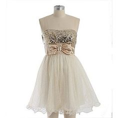Speechless- -Women's Dress Strapless Sequins