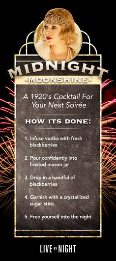 The perfect cocktail for your evening soirée - MIDNIGHT MOONSHINE | Live By Night | in cinemas January 13, 2017