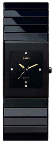 Rado Ceramica Black Diamond Dial Ladies Watch R21347742 -sleek