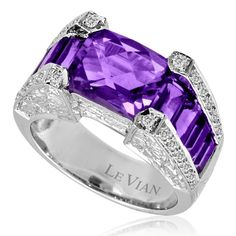 Amethyst & Diamond Ring available at Houston Jewelry!