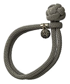 Seraphina Gray Rope Knot Bracelet. Wanna try making this ASAP! How hard can it be?