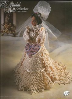 Crochet Pattern Crochet Barbie Doll Wedding Gown by luvinthecrafts