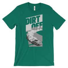 Dirt Off Car Racing T-Shirt in white