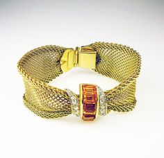 Vintage Bracelet Emmons Parisian Delight Mesh by zephyrvintage, $29.00