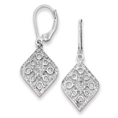 K /& S Sterling Silver Sparkling Pave Inside-Out Hoop Earrings